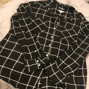 Plaid Button Down Dress Shirt